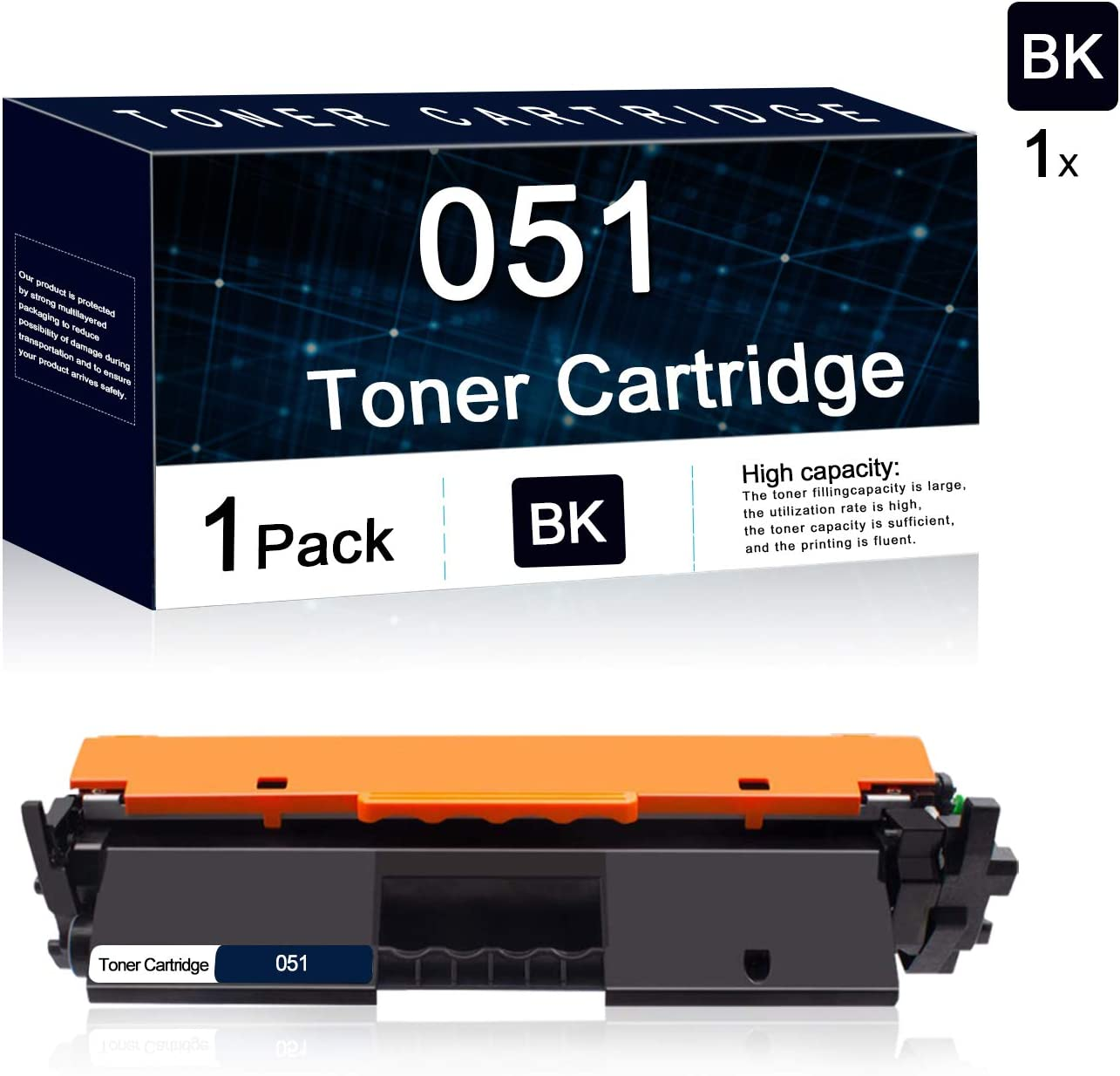 1 Pack 051 Drum Cartridge Replacement for Canon Toner Cartridge 051 ImageCLASS LBP161dw LBP162dw MF263dw MF267dw MF264dw MF266dw MF269dw MF160 LBP160 MF260 LBP260 Series Printer