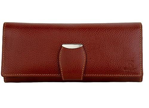 a78a7558fe K London Brown Leather Women s Wallet  K London Design Team  Amazon ...