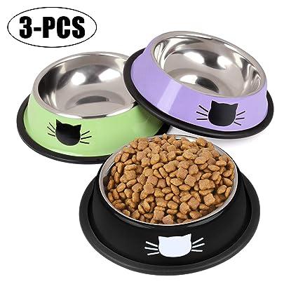 Non Slip Stainless Steel Cat Feeding Bowl