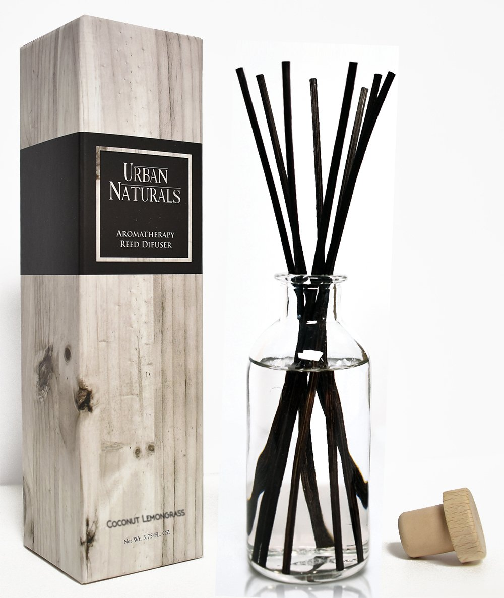 Urban Naturals Coconut Lemongrass Home Fragrance Reed Diffuser Oil Set | Tropical Blend of Lemongrass, Fresh Limes & Sweet Coconut Milk | Great Home Gift Idea! Vegan. Made in The USA by Urban Naturals (Image #3)