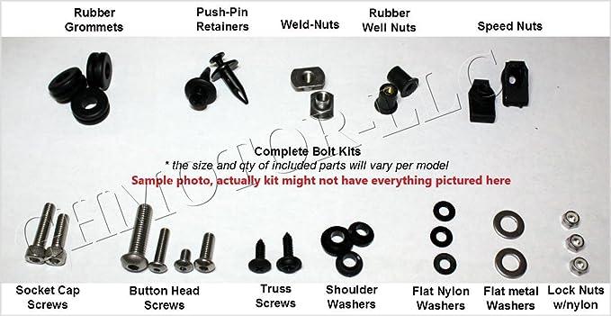 GHMotor 2006 2007 GSX-R600 GSX-R750 Motorcycle Complete Silver Fairing Bolt Screws kit GSXR 600 750 4016-8