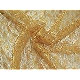 DOWNTON FABRICS AND CRAFTS - Tessuto per abiti, in pizzo, motivo floreale, 112 cm, lunghezza al metro
