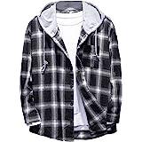SweatyRocks Womens Long Sleeve Plaid Hoodie Jacket Button Down Blouse Tops