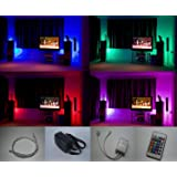 Colour changing LED mood light Kit with IR Remote control 4 x 500mm LED strips