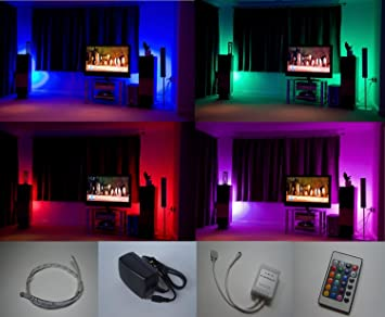home mood lighting. colour changing led mood light kit with ir remote control 4 x 500mm strips home lighting o