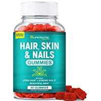 Hair Skin and Nails Gummies with High Potency Biotin 5000mcg | Tasty Cherry Hair...