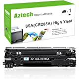 AZTECH 1 Pack 2,500 Pages High Yield Replaces 85A CE285A CE285X CE285 Black Toner Cartridge For LaserJet Pro P1102 P1102W P1100 M1212NF M1217NFW MF3010 M1210 M1132 Printer
