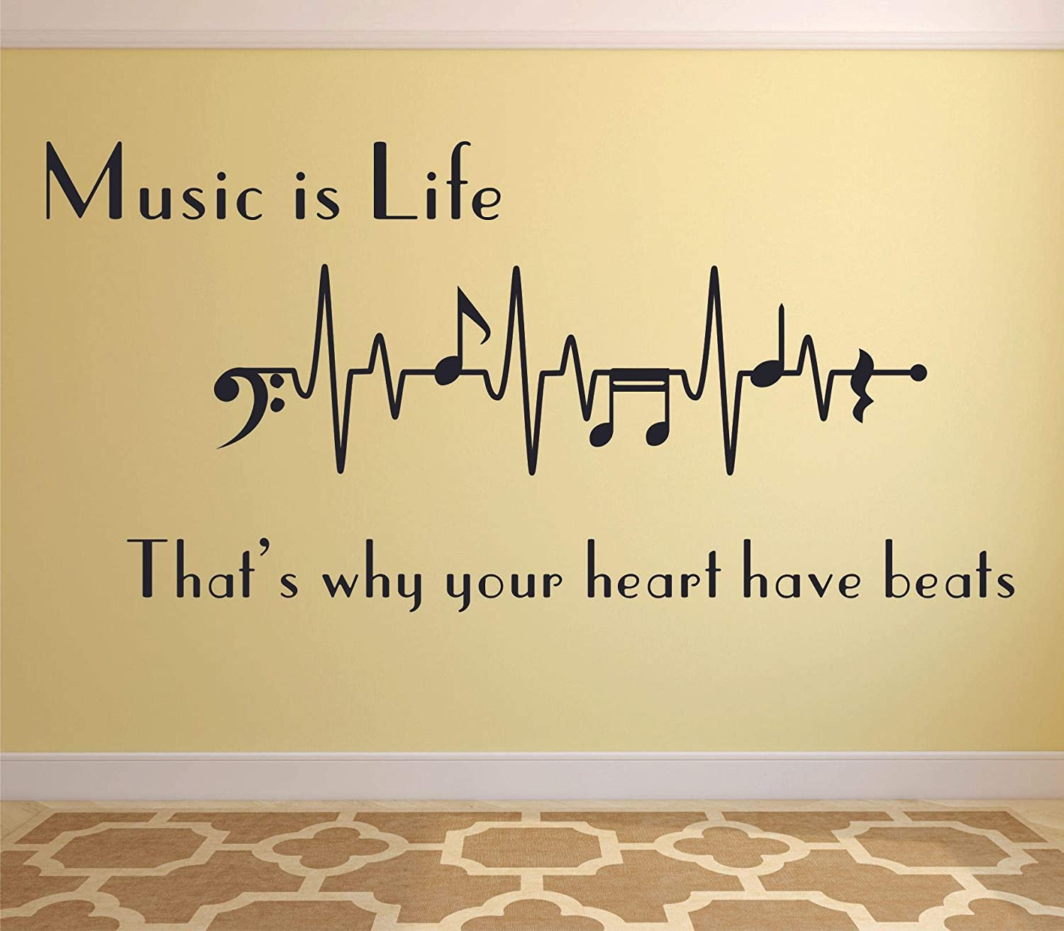 Amazon Com Berthold Auerbach Quote Creative Popular Music Piano Music Note Inspirational Music Quotes Notes Song Songs Instruments Melody Love Decals Decal Vinyl Art Stickers For Bedrooms Rooms Size 15x20 Inch Home