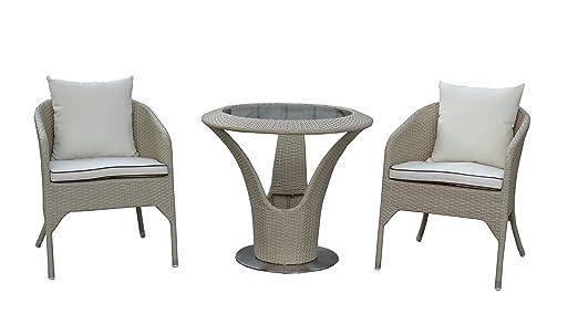 Amazon De Rattan Mobel Garten Balkon Buro Bistro Set Stuhl Sessel
