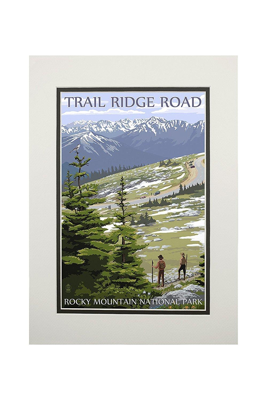 カウくる Trail Ridge Road – ロッキーマウンテン国立公園 Art 11 x 14 11 Matted Ridge Art Print LANT-33682-11x14M B06XZXHKR1 11 x 14 Matted Art Print, イスミグン:7f959c96 --- mcrisartesanato.com.br