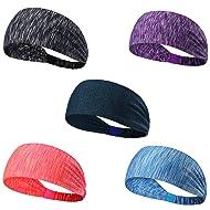 Set of 5 Women's Yoga Sport Headband For Headbands all Men & Women