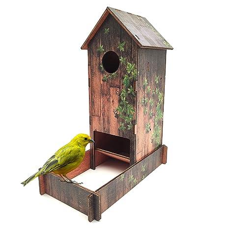 GoGoVolt Nido De Madera Para Pájaros. Refugio Para Hacer Criar ...