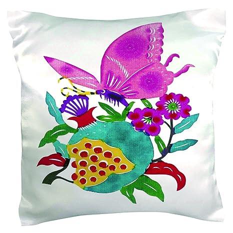veronicaca seda en forma de mariposa fundas de almohada ...