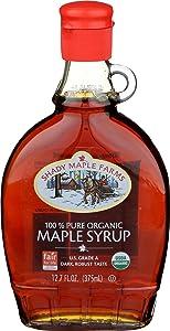 Shady Maple Farms Maple Syrup, Og, Gr B, Glass, 12.70-Ounce