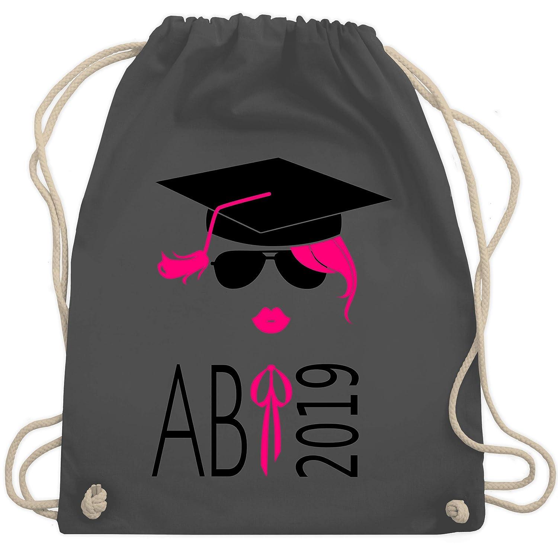Abi /& Abschluss Turnbeutel /& Gym Bag Hipster Abi 2019 Kussmund