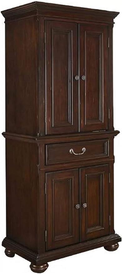 Kitchen Pantry Storage Cabinet Givens 72 Kitchen Pantry Storage Cabinet Showcasing Bun Feet And Three Adjustable Shelve In Rich Cherry Finish Amazon Ca Home Kitchen