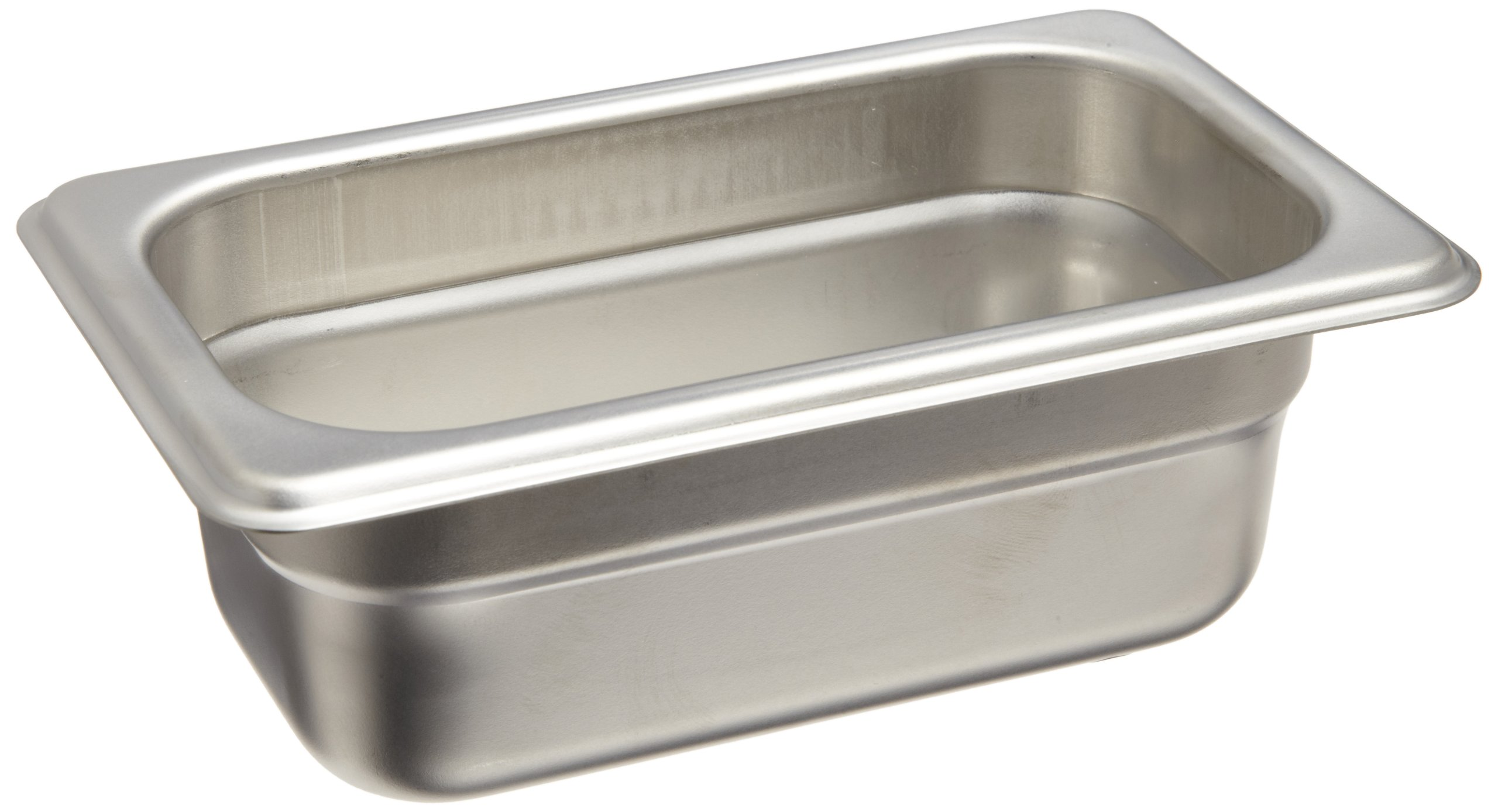 Carlisle DuraPan 608194 18-8 Stainless Steel Heavy Gauge 1.70 Qt One-Ninth Size Pan, 6-7/8'' Length x 4-1/4'' Width x 4'' Depth
