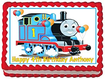 Amazoncom Thomas The Train Edible Frosting Sheet Cake Topper 14