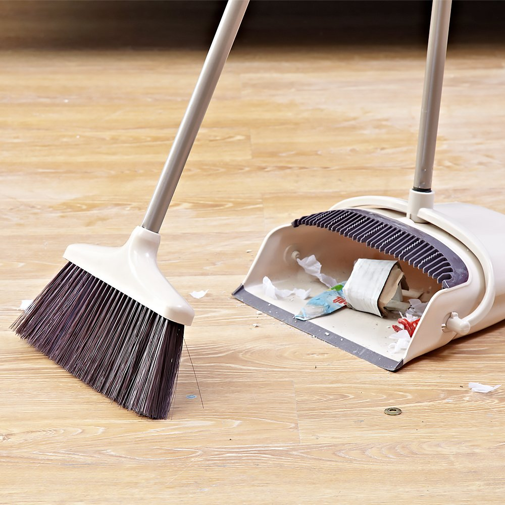 SANGFOR Broom and Dustpan Set Long Handle Dustpan and Lobby Broom Combo Upright Grips Sweep Set with Broom by SANGFOR (Image #3)