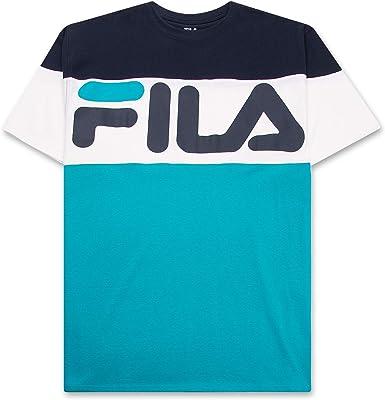 Fila - Camiseta de manga corta para hombre, grande y alto, cuello redondo - - 4X: Amazon.es: Ropa y accesorios