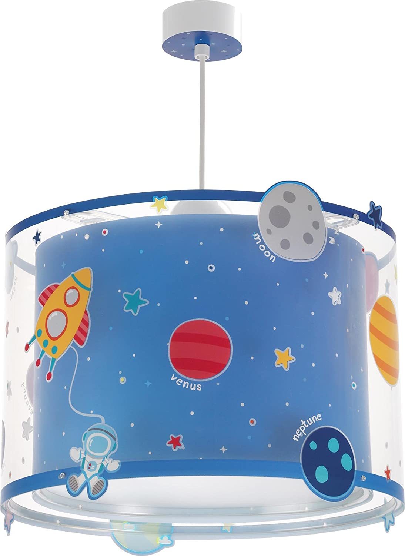 Dalber Planets Hängelampe Kinder Plastik Blau 33 x 33 x 25 cm