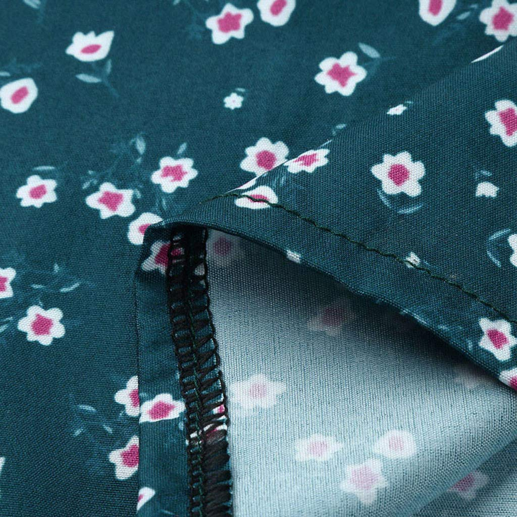 ANJUNIE Mini Skirt Women Long Sleeve Floral Printing Casual Evening Party Boho Dress