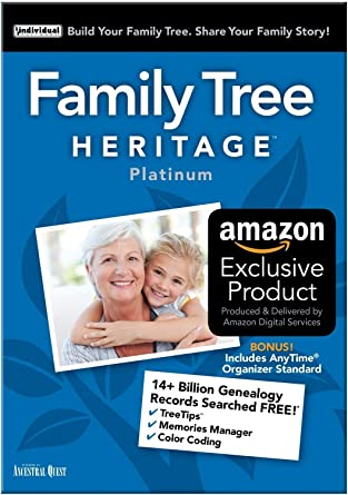 amazon com family tree heritage platinum 15 software