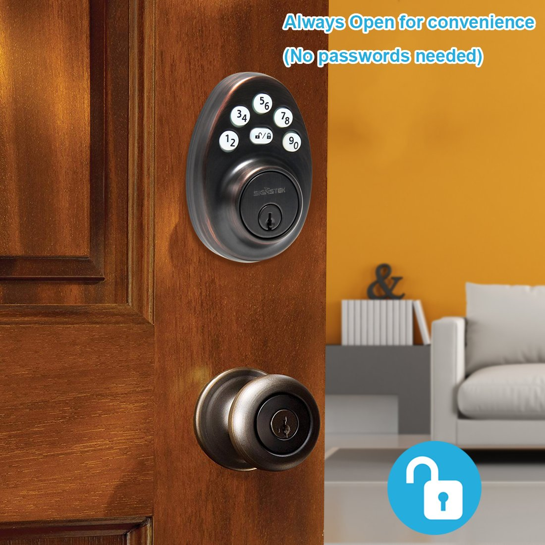 Amazon.com: Signstek - Cerrojo electrónico para puerta con ...