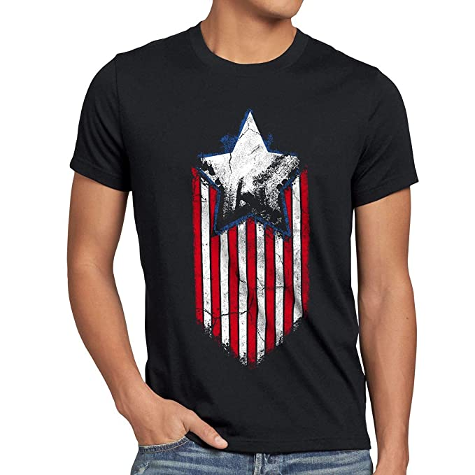 fc31977d5 style3 USA Stars and Stripes Hero Camiseta para Hombre T-Shirt: Amazon.es:  Ropa y accesorios