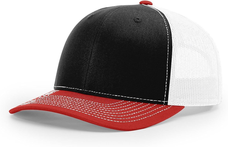 Running Partner Richardson 112 112P Trucker Mesh Snapback Hat Curved Bill with NoSweat Hat Liner