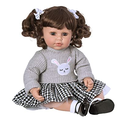 "Adora ToddlerTime ""Preppy"" Doll with embroidered bunny sweater, skirt and mary jane patent shoes: Toys & Games"