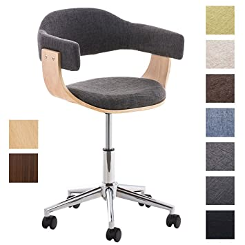ClairCouleur Chaise Bureau Tissu Hauteur CouleurGris 46 57 Brügge De Ergonomique I Clp Cm Design Assise Réglable Fauteuil Nvmw08n