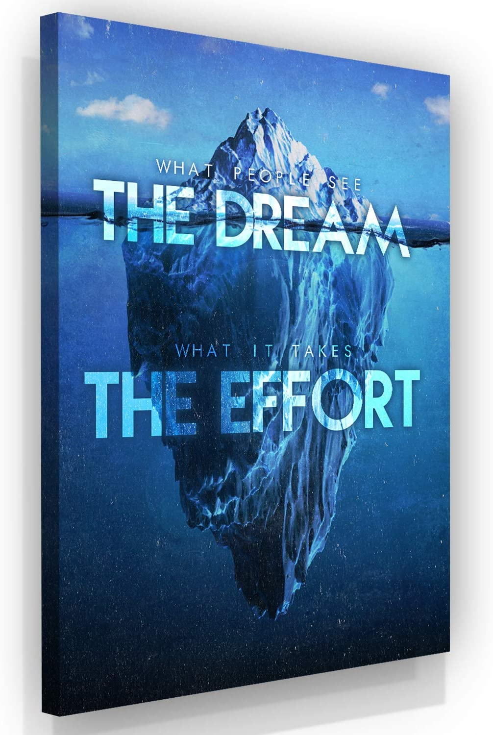 SuccessHuntersPrints Motivational Art Inspirational Quotes - The Dream The Effort - Framed Office and Home Wall Art Decor Posters for Entrepreneurs and Business