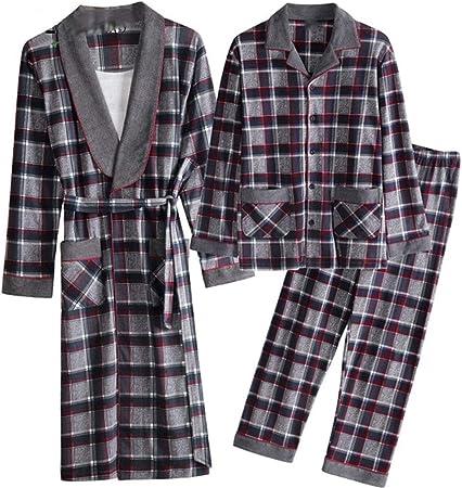 WZSY For Hombre Pijamas Bata, 100% Algodón Piel-amistosa Cómoda Floja Y Transpirable con Bolsillo De Pecho del Calor Fácil De Cuidar Instalado for Yukata Niños Swim SPA Vida Diaria Ropa Hombre: Amazon.es: