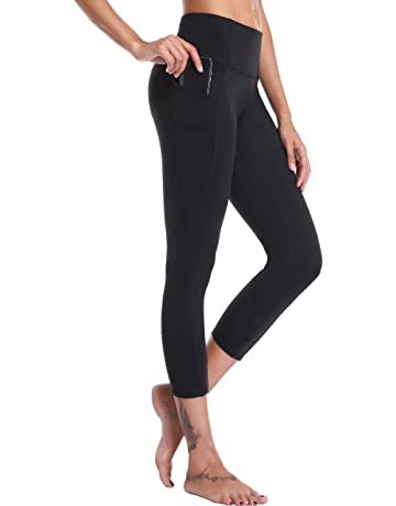 27adf17249b9c Oalka Women's Yoga Capris Power Flex Running Pants Workout Leggings