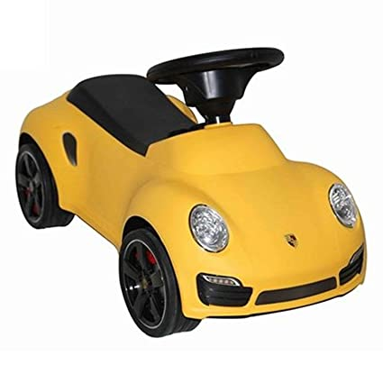 Licensed Porsche 911 Turbo Kids Ride On Push Car - Yellow