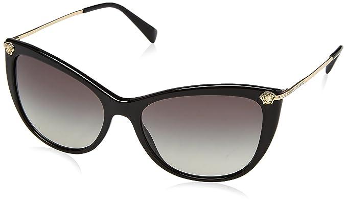 Versace Damen Sonnenbrille » VE4343«, schwarz, GB1/2Y - schwarz/rosa