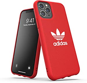 adidas Originals Compatible with iPhone 11 Pro Case, Protective Moulded Canvas Phone Cover - Collegiate Scarlet Red