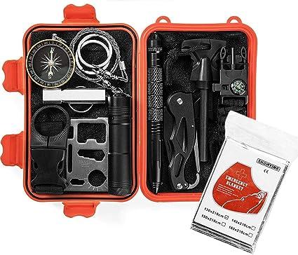Amazon.com: Gear in a Kit de supervivencia de emergencia 13 ...