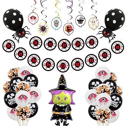 Rolin Roly Decoración de Halloween 40pcs Set Naranja Negro ...