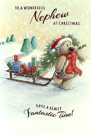 Amazon.de: Geburtstagskarte für Neffen, Motiv Weihnachten, Santa ...