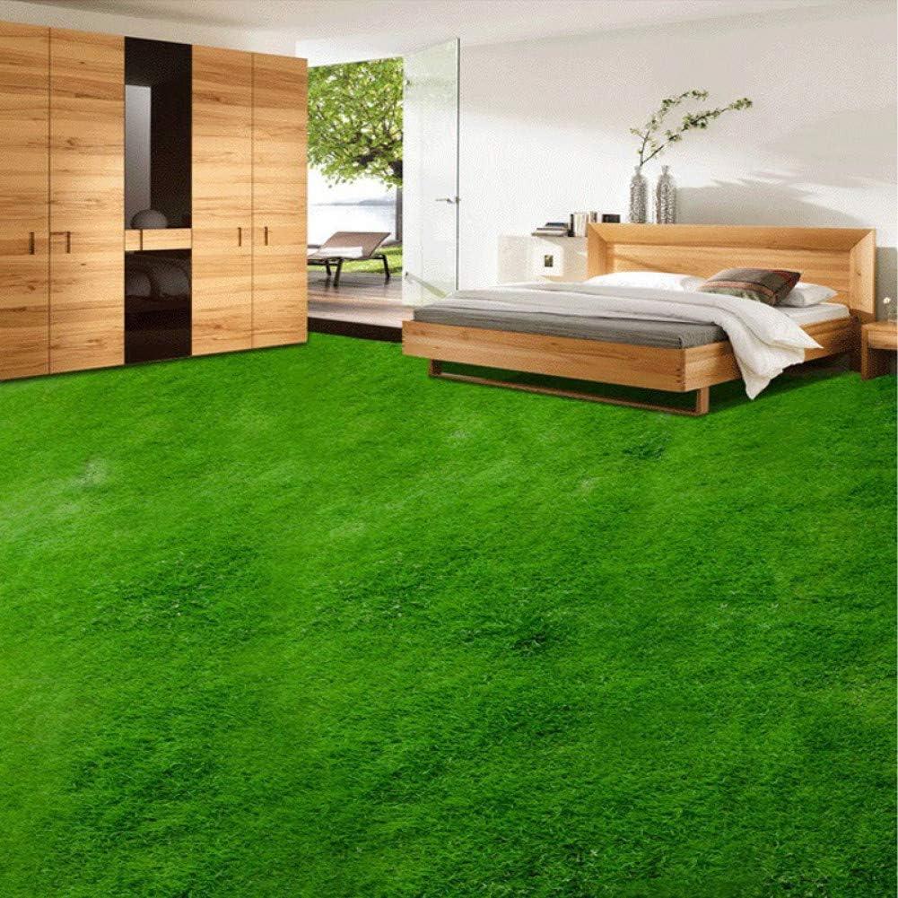 3D Cool Green Lake 7060 Floor Wallpaper Murals Self-Adhesive Removable Kitchen Bath Floor Waterproof floor Rug Mat Print Epoxy YOYO