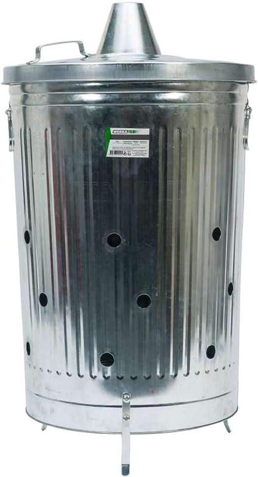 WerkaPro 10944 - Incinerador de jardín (100 litros, 45 x 38 x 57 cm), color gris: Amazon.es: Jardín