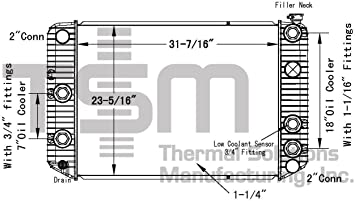 1991 gmc topkick wiring diagram amazon com tsmusa plastic tank radiator for chevrolet gmc  91  tsmusa plastic tank radiator for