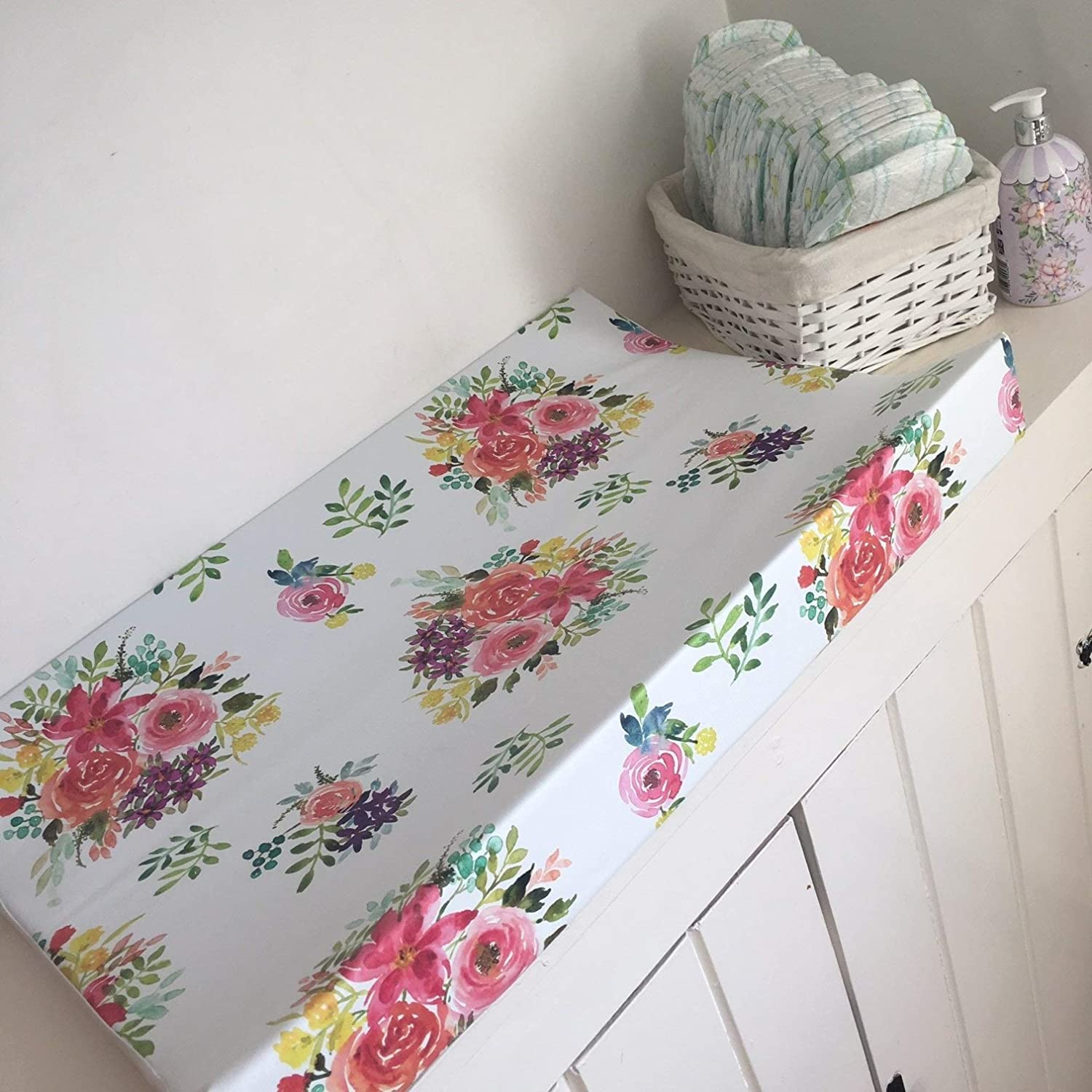 Wedge Baby Changing Mat The Gilded Bird Anti-roll Colourful Bouquet