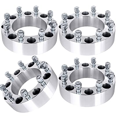 "ECCPP 8x170 Wheel Spacers 8 LUG 2"" (50mm) 8x170mm to 8X170mm 125mm fits for Ford Excursion Ford F250 Ford F350 with 14x1.5 STUDS: Automotive"