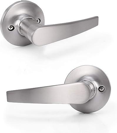 Satin Nickel Front Door Dummy Handleset  lever lock 838 with free shipping