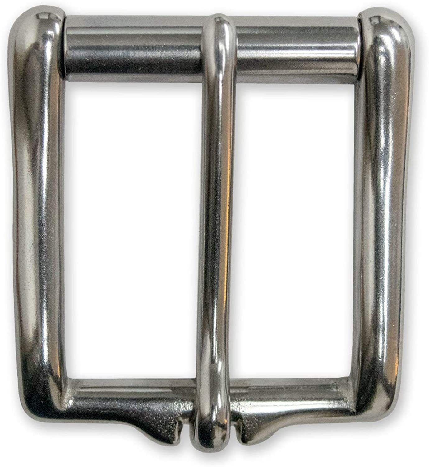 Antique Silver 1 1//2 Nickel Plated Silver Color Simple Roller Buckle