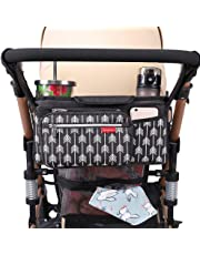 Universal Stroller Organizer with Insulated Cup Holder by Hfeng Britax Baby Jogger Detachable Phone Bag /& Shoulder Strap Bugaboo BOB Fits for Stroller Like Uppababy Umbrella and Pet Stroller