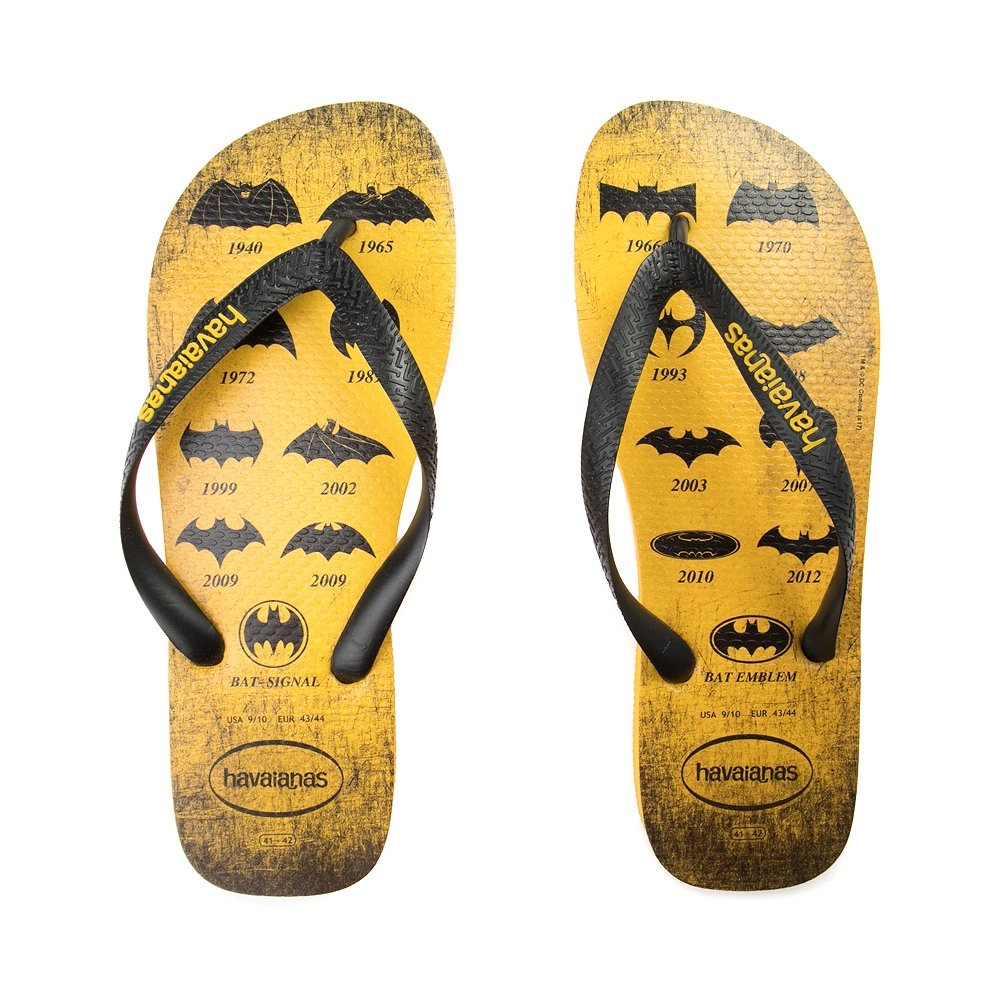 Havaianas Unisex Batman Sandals (41-42 Bra, Banana Yellow)